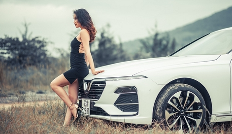 sexy girl with audi
